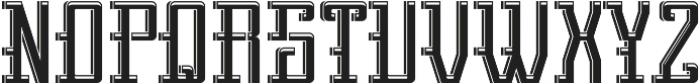 Northamton LightAndShadow otf (300) Font UPPERCASE