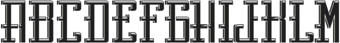 Northamton LightAndShadow otf (300) Font LOWERCASE