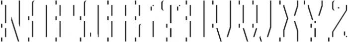 Northamton ShadowFX otf (400) Font UPPERCASE