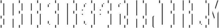 Northamton ShadowFX otf (400) Font LOWERCASE