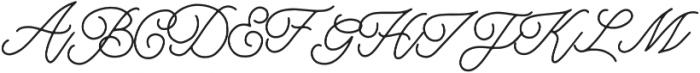 Northern Lights Script otf (300) Font UPPERCASE