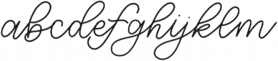 Northern Lights Script otf (300) Font LOWERCASE