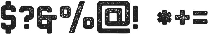 Northwest Round Textured ttf (400) Font OTHER CHARS