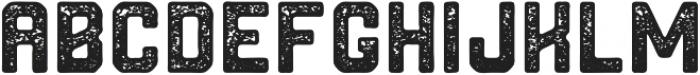 Northwest Round Textured ttf (400) Font UPPERCASE