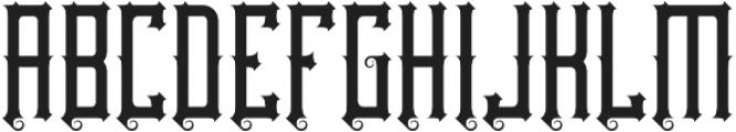 Northwood Regular otf (400) Font UPPERCASE