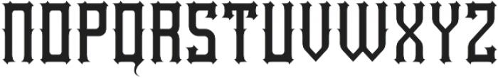 Northwood Regular otf (400) Font LOWERCASE