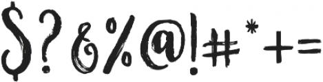 Nostalgic Script Reguler otf (400) Font OTHER CHARS