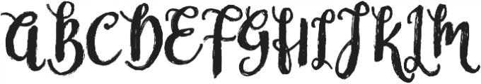 Nostalgic Script Reguler otf (400) Font UPPERCASE