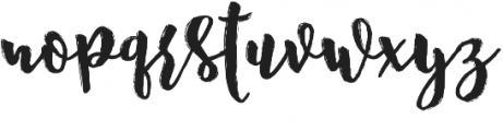 Nostalgic Script Reguler otf (400) Font LOWERCASE