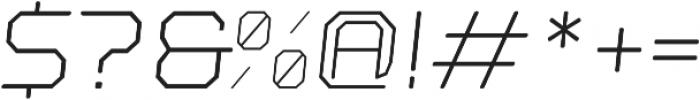 Nostromo Oblique Light otf (300) Font OTHER CHARS