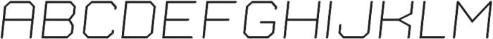 Nostromo Oblique Light otf (300) Font UPPERCASE