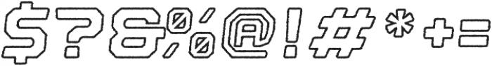 Nostromo Outline Black Oblique Rough otf (900) Font OTHER CHARS