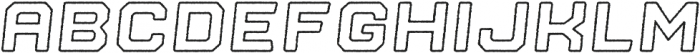 Nostromo Outline Black Oblique Rough otf (900) Font LOWERCASE