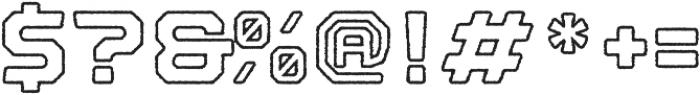 Nostromo Outline Black Rough otf (900) Font OTHER CHARS
