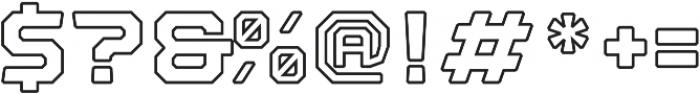 Nostromo Outline Black otf (900) Font OTHER CHARS