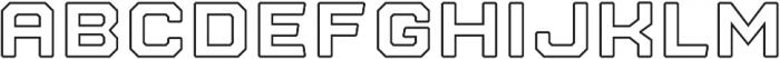 Nostromo Outline Black otf (900) Font LOWERCASE