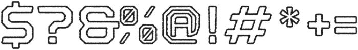 Nostromo Outline Bold Rough otf (700) Font OTHER CHARS