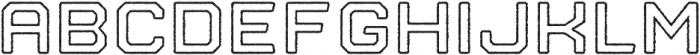 Nostromo Outline Bold Rough otf (700) Font UPPERCASE