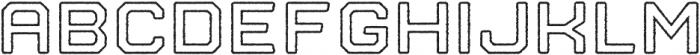Nostromo Outline Bold Rough otf (700) Font LOWERCASE