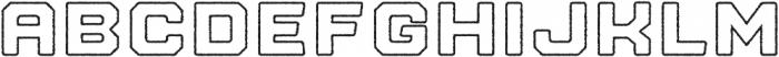 Nostromo Outline Heavy Rough otf (800) Font UPPERCASE