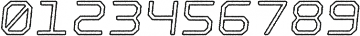 Nostromo Outline Medium Oblique Rough otf (500) Font OTHER CHARS