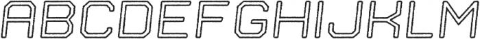 Nostromo Outline Medium Oblique Rough otf (500) Font UPPERCASE