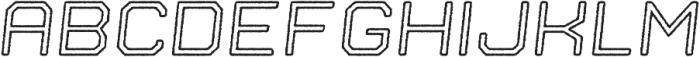 Nostromo Outline Medium Oblique Rough otf (500) Font LOWERCASE