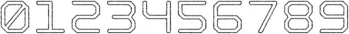 Nostromo Outline Medium Rough otf (500) Font OTHER CHARS