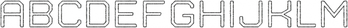 Nostromo Outline Medium Rough otf (500) Font UPPERCASE