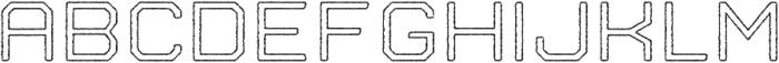 Nostromo Outline Medium Rough otf (500) Font LOWERCASE