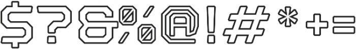 Nostromo Outline otf (700) Font OTHER CHARS