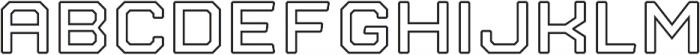 Nostromo Outline otf (700) Font UPPERCASE