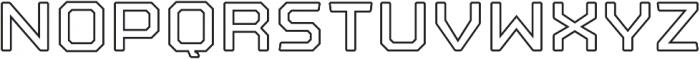 Nostromo Outline otf (700) Font LOWERCASE