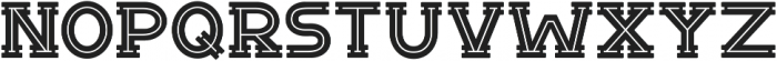 Notch Horizontal Inline ttf (400) Font LOWERCASE