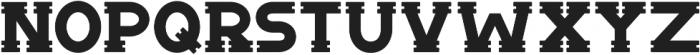 Notch Horizontal ttf (400) Font UPPERCASE