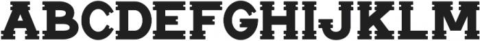 Notch Horizontal ttf (400) Font LOWERCASE