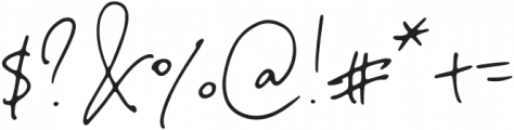 NotesandQuotesScript otf (400) Font OTHER CHARS