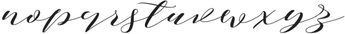 Notetail Stretch Regular otf (400) Font LOWERCASE