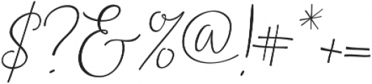 Noteworthy Script Italic otf (400) Font OTHER CHARS