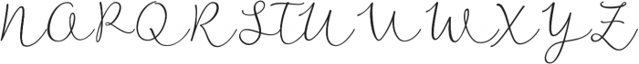 Noteworthy Script Italic otf (400) Font UPPERCASE