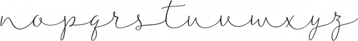 Noteworthy Script Italic otf (400) Font LOWERCASE