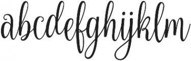 Nouradilla otf (400) Font LOWERCASE