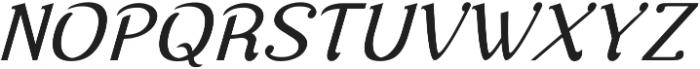 Nova Classic Italic ttf (400) Font UPPERCASE