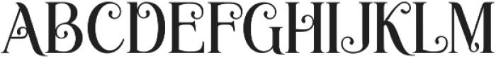 Novelia Regular otf (400) Font UPPERCASE