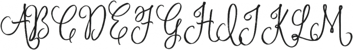November Starlight Regular otf (300) Font UPPERCASE