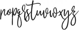 November Starlight Regular otf (300) Font LOWERCASE