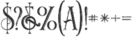 Noxa Inline Grunge otf (400) Font OTHER CHARS