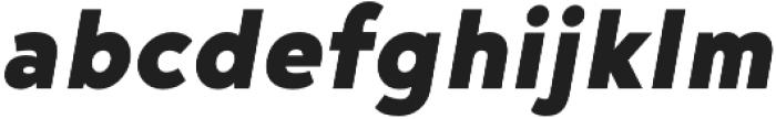 Noyh Geometric Black Italic otf (900) Font LOWERCASE