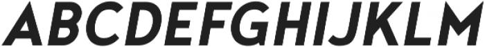 Noyh Geometric Slim Bold Italic otf (700) Font UPPERCASE