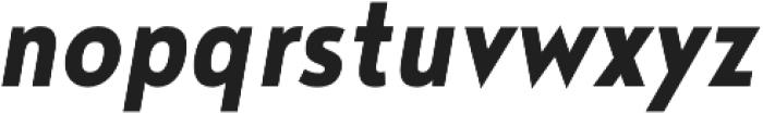 Noyh Geometric Slim Bold Italic otf (700) Font LOWERCASE